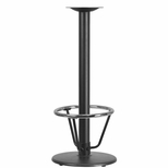 18'' Round Restaurant Table Base with 3'' Dia. Bar Height Column and Foot Ring [BFHD-6BAR-3FTR-TDR]