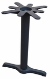 2 Prong Cast Iron Dining Height Table End Base with 17'' Top Plate [JI3-522TP17-JIB]