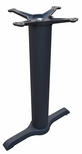 2 Prong Cast Iron Dining Height Table End Base with 4''D Column [JI4-522TP12-JIB]