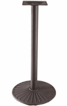 Semi Gloss Cast Iron Bar Height Outdoor Table Base [Z14-22H-AMF]