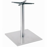Brushed Stainless Steel 22'' x 28.375''H Square Table Base [5022-28-SS-PMI]