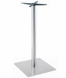 Brushed Stainless Steel 22'' x 42.5''H Square Table Base [5022-43-SS-PMI]