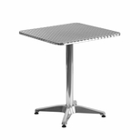 23.5'' Square Aluminum Indoor-Outdoor Table with Base [TLH-053-1-GG]