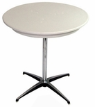 36'' Round Elite Cocktail Series Blow Molded Table Top with 30'' Chrome Finished Column [210200-MES]