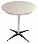 36'' Round Elite Cocktail Series Blow Molded Table Top with 42'' Chrome Finished Column [211200-MES]