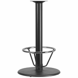 24'' Round Restaurant Table Base with 4'' Dia. Bar Height Column and Foot Ring [BFHD-7BAR-4FTR-TDR]