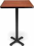 24'' Square Cafe Table - Cherry Top with X-Style Base [XTC24SQ-CHY-MFO]
