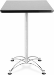 24'' Square Cafe Table - Gray Nebula with Chrome Base [CCLT24SQ-GRYNB-MFO]