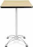 24'' Square Cafe Table - Oak with Chrome Base [CCLT24SQ-OAK-MFO]