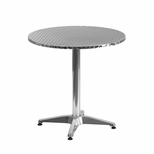 27.5'' Round Aluminum Indoor-Outdoor Table with Base [TLH-052-2-GG]