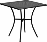 28'' Square Black Indoor-Outdoor Steel Patio Table [CO-5-BK-GG]
