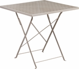 28'' Square Light Gray Indoor-Outdoor Steel Folding Patio Table [CO-1-SIL-GG]