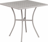28'' Square Light Gray Indoor-Outdoor Steel Patio Table [CO-5-SIL-GG]