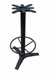 3 Prong Cast Iron Bar Height Table Base with 19''D Footring a 17'' Top Plate and a 27'' Base Spread [JIB3-27TP17BHFR-JIB]