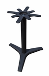 3 Prong Cast Iron Dining Height Table Base with 27'' Base Spread and a 17'' Top Plate [JIB3-27TP17-JIB]