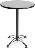 30'' Round Cafe Table - Gray Nebula with Black Base [CBLT30RD-GRYNB-MFO]