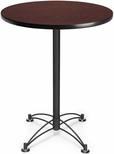 30'' Round Cafe Table - Mahogany with Black Base [CBLT30RD-MHGY-MFO]