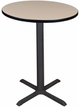 Cain 30'' Round Laminate Cafe Table with PVC Edge - Beige [TCB30RNDBE-FS-REG]