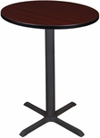 Cain 30'' Round Laminate Cafe Table with PVC Edge - Mahogany [TCB30RNDMH-FS-REG]