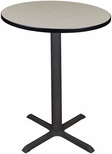 Cain 30'' Round Laminate Cafe Table with PVC Edge - Maple [TCB30RNDPL-FS-REG]