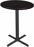 Cain 30'' Round Laminate Cafe Table with PVC Edge - Walnut [TCB30RNDMW-FS-REG]