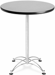 30'' Round Cafe Table - Gray Nebula with Chrome Base [CCLT30RD-GRYNB-MFO]