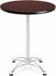 30'' Round Cafe Table - Mahogany with Chrome Base [CCLT30RD-MHGY-MFO]
