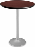 30'' Round Folding Cafe Table - Mahogany [CFT30RD-MHGY-3-MFO]