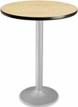 30'' Round Folding Cafe Table - Oak [CFT30RD-OAK-3-MFO]