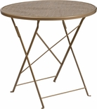 30'' Round Gold Indoor-Outdoor Steel Folding Patio Table [CO-4-GD-GG]