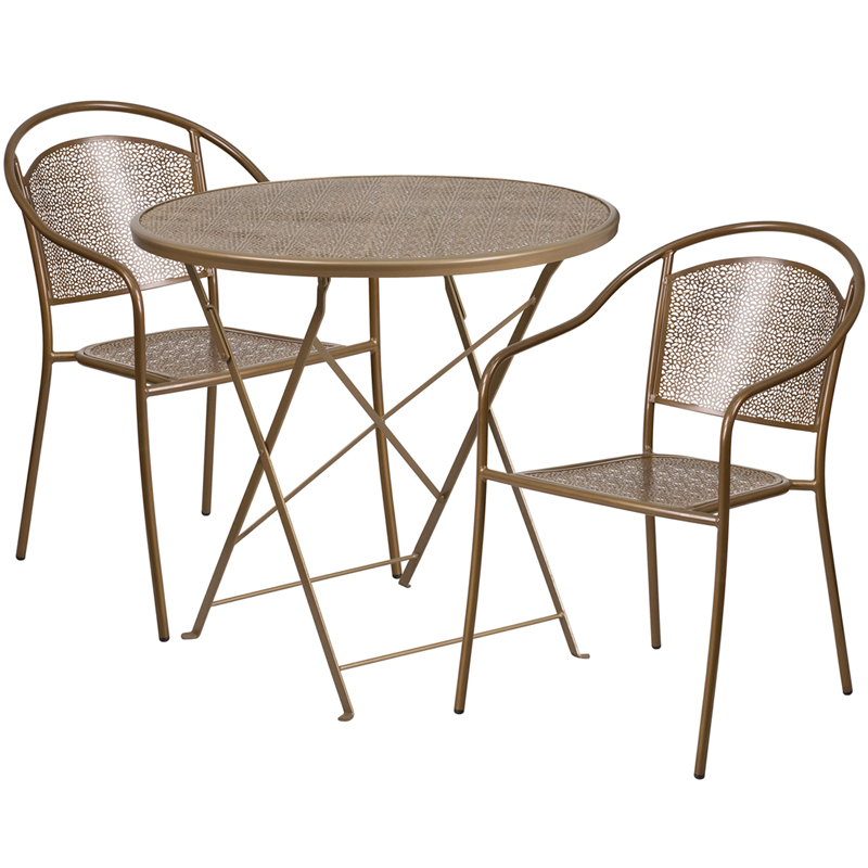 patio table set with 2 round back chairs co 30rdf 03chr2 gd gg