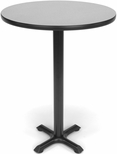 30'' Round Cafe Table - Gray Nebula Top with X-Style Base [XTC30RD-GRYNB-MFO]