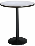 30'' Round Laminate Bistro Height Table with Grey Nebula Top - Black Round Base [T30RD-B1917-BK-GYN-38-IFK]