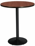 30'' Round Laminate Bistro Height Table with Mahogany Top - Black Round Base [T30RD-B1917-BK-MH-38-IFK]
