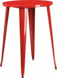 30'' Round Red Metal Indoor-Outdoor Bar Height Table [CH-51090-40-RED-GG]