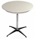 30'' Round Elite Cocktail Series Blow Molded Table Top with 42'' Chrome Finished Column [213200-MES]