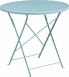 30'' Round Sky Blue Indoor-Outdoor Steel Folding Patio Table [CO-4-SKY-GG]