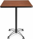30'' Square Cafe Table - Cherry with Black Base [CBLT30SQ-CHY-MFO]