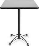 30'' Square Cafe Table - Gray Nebula with Black Base [CBLT30SQ-GRYNB-MFO]