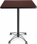 30'' Square Cafe Table - Mahogany with Black Base [CBLT30SQ-MHGY-MFO]