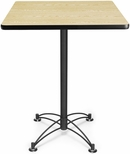 30'' Square Cafe Table - Oak with Black Base [CBLT30SQ-OAK-MFO]