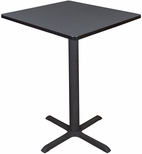 Cain 30'' Square Laminate Cafe Table with PVC Edge - Gray [TCB3030GY-FS-REG]