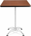 30'' Square Cafe Table - Cherry with Chrome Base [CCLT30SQ-CHY-MFO]