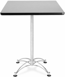 30'' Square Cafe Table - Gray Nebula with Chrome Base [CCLT30SQ-GRYNB-MFO]