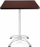 30'' Square Cafe Table - Mahogany with Chrome Base [CCLT30SQ-MHGY-MFO]