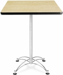 30'' Square Cafe Table - Oak with Chrome Base [CCLT30SQ-OAK-MFO]