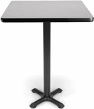 30'' Square Cafe Table - Gray Nebula Top with X-Style Base [XTC30SQ-GRYNB-MFO]