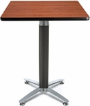 30'' Square Cafe Table with Metal Mesh Base - Cherry [CMT30SQ-CHY-FS-MFO]