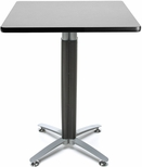 30'' Square Cafe Table with Metal Mesh Base - Gray Nebula [CMT30SQ-GRYNB-FS-MFO]