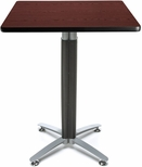 30'' Square Cafe Table with Metal Mesh Base - Mahogany [CMT30SQ-MHGY-FS-MFO]